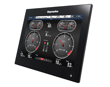 gS Series with engine display | Raymarine