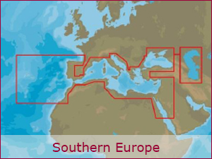 C-MAP Cartography - S.Europe Bundle | Raymarine