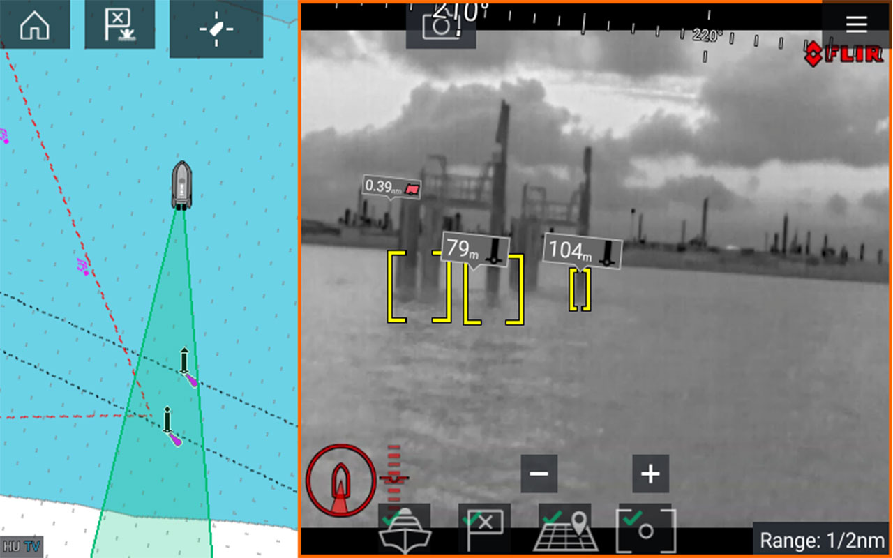 LightHouse 3.9 softwareopdatering - ClearCruise Augmented Reality til termiske kameraer | Raymarine - A Brand by FLIR