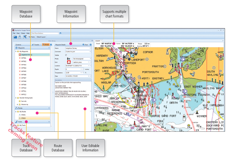 Voyage Planner - Data Management Library | Raymarine